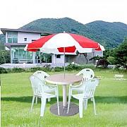 일반 파라솔-Red&white